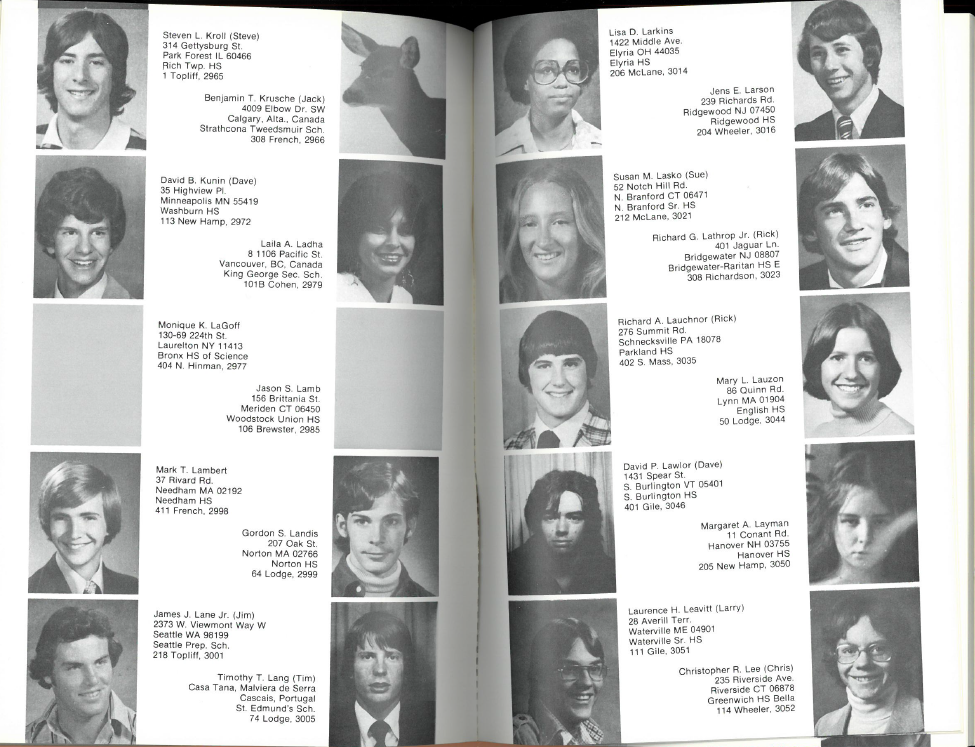 Dartmouth Class of 1981 - Freshman Book